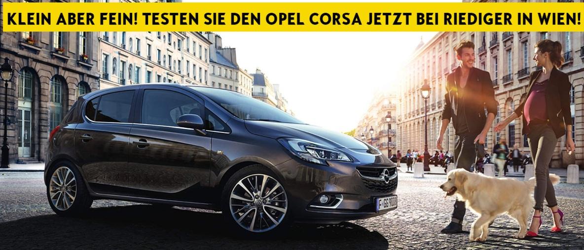 Der Opel Corsa bei Riediger in Wien