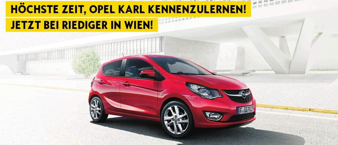 Opel Karl bei Riediger in Wien